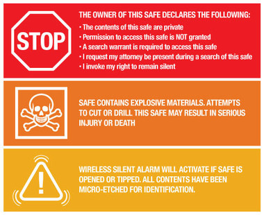 Gun Safe Sticker