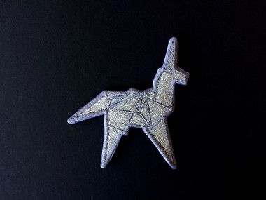 Silver Origami Unicorn - Morale Patch