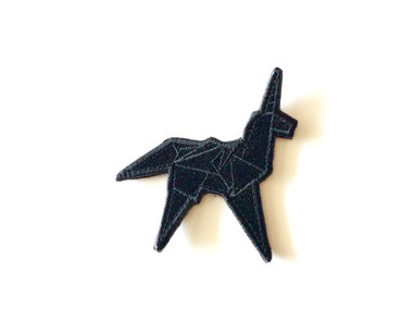 Blacked Out Origami Unicorn - Morale Patch