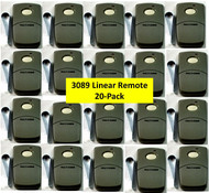 3089 20-PACK Linear Multi-Code 1 Button Garage Gate Remote Transmitter Frequency 300mhz