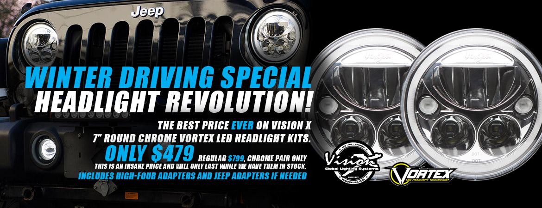 Vision X LED Headlight Winter Sale