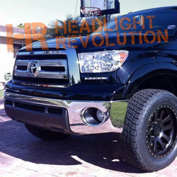 Rostra 2007-2013 Toyota Tundra premium DRL system with GREY Bezels