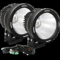 """Vision X 6.7"""" CANNON BLACK 1 50W LED 10 Degree NARROW LIGHT KIT"""