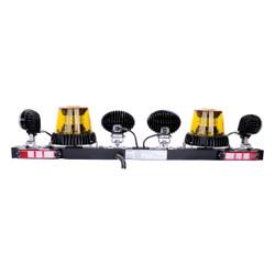 JW Speaker Model MB735 - 12V SAE LED Light Bar with 2 Amber Strobes