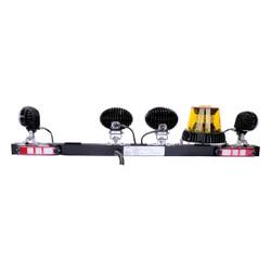 JW Speaker Model MB735 - 12V SAE Mine Bar with 1 Amber Strobe