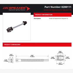 JW Speaker Model 90 - Replacement Adjuster Kit Model 90, 91 or 92 LED Headlight