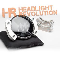"""Headlight Revolution Jeep JK Wrangler 4.5"""" LED Fog Light Brackets - JW Speaker and Truck-Lite"""