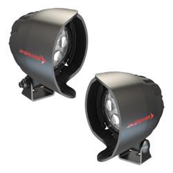 JW Speaker Model 4415-12/24V ROUND LED SPOT 2-LIGHT KIT WITH SIDE VIEW MIRROR MOUNT