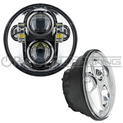 """ORACLE 5.75"""" 40W Replacement LED Headlight - Chrome Bezel"""