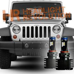 2007 - 2017 Jeep Wrangler JK LED Fog Light Bulb Upgrade Level 2