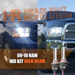 2009 - 2018 Dodge Ram HID Headlights Upgrade - HIGH BEAM HID Conversion Kit