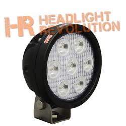 "Vision X 4"" ROUND UTILITY MARKET XTREME BLACK 7 5W LED'S 25 degree MEDIUM"