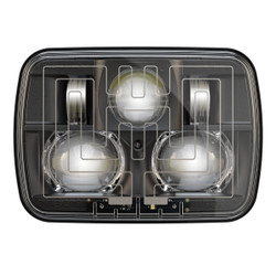 "JW Speaker 8910 Evolution 2 Dual Beam 5"" x 7"" Black Headlight (Heated)"