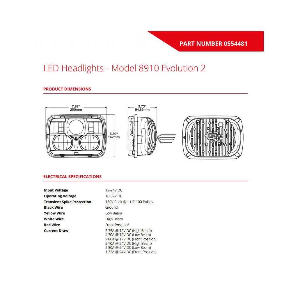 Jw Speaker 8910 Evolution 2 Dual Beam 5 X 7 Black Headlight 6054 Wiring Diagram