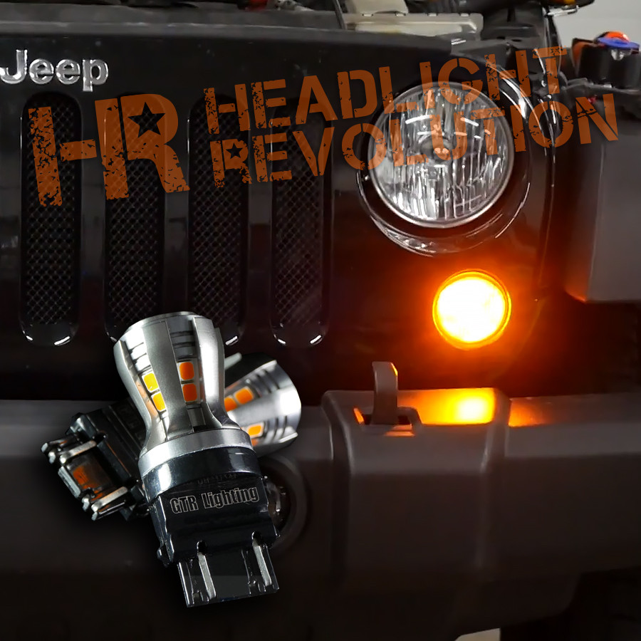 2007 2017 Jeep Jk Front Turn Signal Led Upgrade Kit Headlight Motorcycle Wiring Further Polaris Rzr Diagram Vehicle Specific