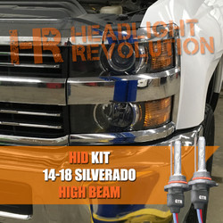 2014 - 2018 Chevrolet Silverado 2500HD 3500HD High Beam HID Conversion Kit