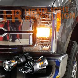 2017+ Ford F250 F350 Super Duty LED Front Turn Signal Bulbs Upgrade Kit - Amber