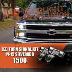 2014-2015 Chevy Silverado 1500 LED Front Turn Signal Kit