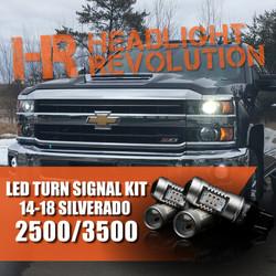 2014-2018 Chevy Silverado 2500 3500 LED Front Turn Signal Kit
