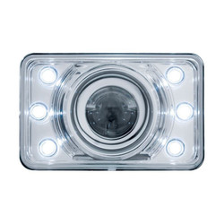 """United Pacific 31375 4x6"""" LED Low Beam Projector Headlight with Accent Lights"""