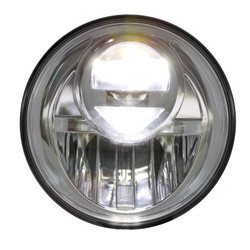 """United Pacific 31300 Chrome 7"""" Round Projection Style LED Headlight"""