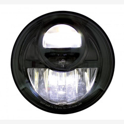 """United Pacific 31292 Black 7"""" Round Projection Style LED Headlight"""