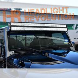 "N-FAB 07-17 Jeep Wrangler JK Modular Windshield Mount for (2) 50"" LED Light Bars"