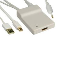 Mini DisplayPort, USB & Digital Audio to HDMI Adapter
