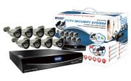 KGUARD EL1622-2CKT005, 16 CH DVR, 8x800TVL WDR Cameras, QR Code Function, 960H, Cloud Tech, 1TB HDD