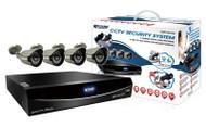 KGUARD EL822-CKT005, 8 CH DVR, 4x800TVL WDR Cameras, QR Code Function, 960H, Cloud Tech, 1TB HDD