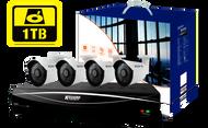 KGUARD HD881 8-CH Hybrid DVR -1080P/720P/960H/Onvif IP cam support & 4 x WA713A with 1TB HDD