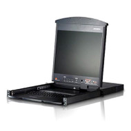 Aten Altusen 16 Port Rackmount USB-PS/2 Cat5 19' LCD KVM Switch with Daisy Chain