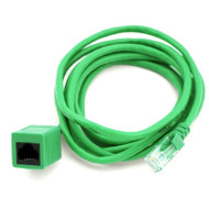 RJ45 Male to Female Cat 5e Network/Ethernet Cable – 2m (Green)