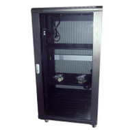 LinkBasic 22U 1000mm Depth Server Rack Smoke Glass Door with 4 x 240v Fans and 8-Port 10A PDU