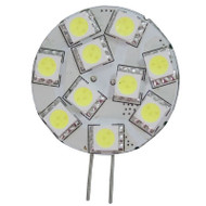 LEDware LED 12V AC/DC G4 2.2W 127Lm 10 SMD (5050) Disc Bulb WW Side Pin 25W Halogen Replacement