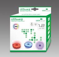LEDware LED Flex Ribbon Strip Kit 12V 1.2m RGB LED/m Inc. Power Adapter & Remote