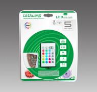 LEDware LED Flex Ribbon Strip Kit 12V 5m RGB LED/m Inc. Power Adapter & Remote