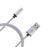 mbeat® Lightning Cable with Silver Nylon Braided in 2m