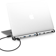 mbeat® M-Sleek Docking Station For Notebook and Macbook in Silver Aluminium Housing