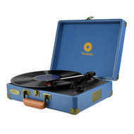 mbeat® Woodstock Retro Turntable - Blue