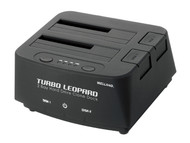 "Welland Turbo Leopard ME-603E 2.5"" + 3.5"" SATA to USB 3.0 DUAL BAY HDD Docking Enclosure - Black"