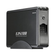 Welland EZSTOR ME-753SE 3.5' SATA to USB 3.0 & eSATA Tool-Free Enclosure - Black Aluminium