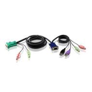 Aten KVM Cable SPHD15M - HDB15M, USB A Male, Audio (To Suit Cs-177X)
