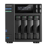 ASUSTOR AS6204T 4-Bay NAS, Quad-Core, 4GB DDR3L, GbE, USB 3.0, eSATA, HDMI WoL, AES-NI, Lockable Tray