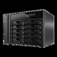 ASUSTOR AS7010T 10-Bay NAS, Core i3 Dual-Core, 2GB DDR3, GbE/HDMI/SPDIF/PCI-E(10GbE)/USB 3.0/eSATA, LCD