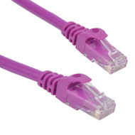 Cat 6 UTP Ethernet Cable, Snagless - 0.25m (25cm) Purple