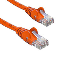 Cat 6 UTP Ethernet Cable, Snagless - 0.5m (50cm) Orange