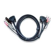 Aten 5m DVI KVM Cable with Audio to suit CS178x, CS178xA, CS164x, CS176xA, CS1768, CL6700, CM0264