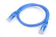 Cat 6a UTP Ethernet Cable, Snagless  - 0.5m (50cm) Blue