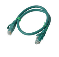 Cat 6a UTP Ethernet Cable, Snagless  - 0.5m (50cm) Green
